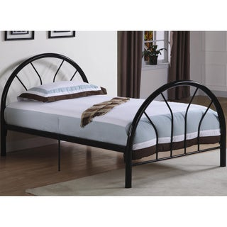 Belledica Twin Size Metal Bed Set, Headboard Footboard and Slats
