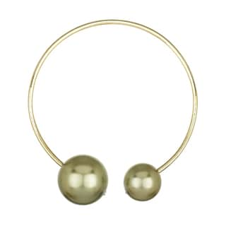 Ally Double Goldtone Collar Necklace