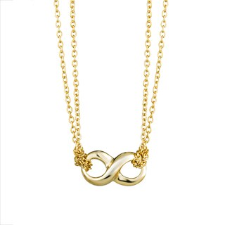 Sterling Silver Goldtone Petite Infinity Necklace