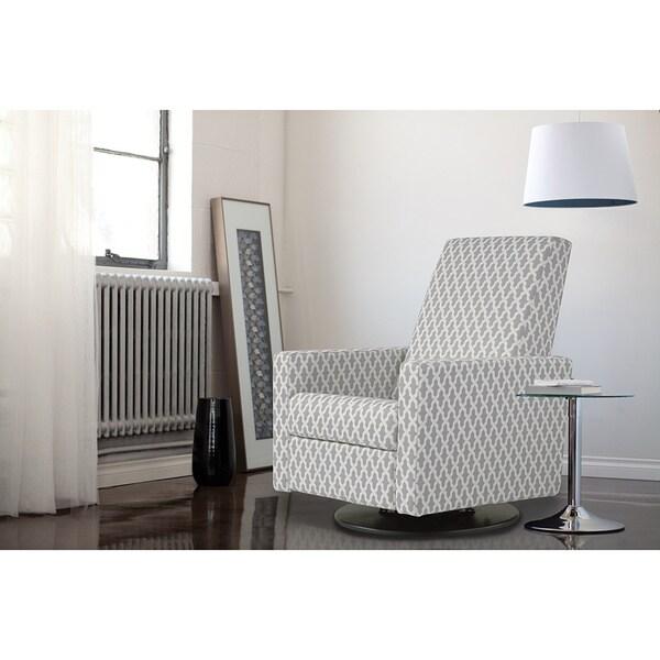Shop Dutailier Minho Grey Print Upholstered Glider
