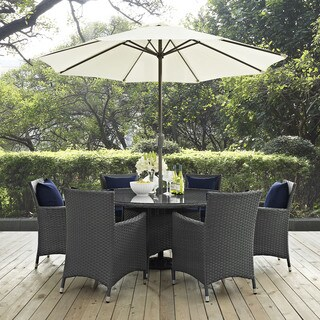 Stopover Synthetic Rattan Outdoor Patio Dining Set (8 Piece Set)