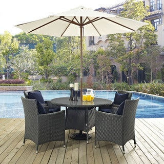 Stopover Sythetic Rattan Outdoor Patio Dining Set (5 Piece Set)