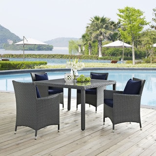 Stopover Synthetic Rattan Outdoor Patio Dining Set (5 Piece Set)