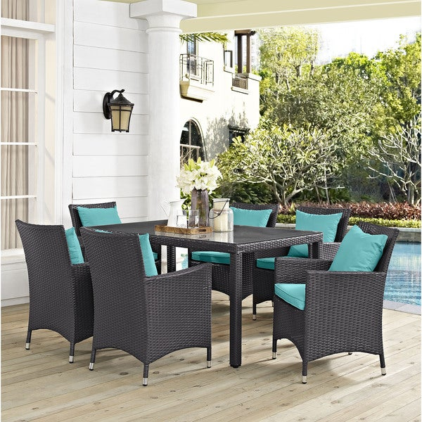 Dinette Sets On Sale: Shop Gather Synthetic Rattan Outdoor Patio Dining Set (7