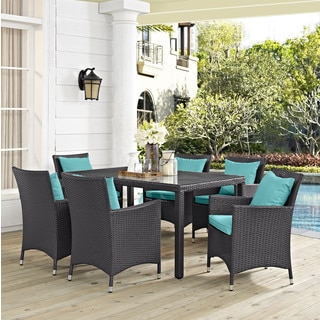 Gather Synthetic Rattan Outdoor Patio Dining Set (7 Piece Set)