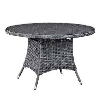 Invite 47 Inch Round Outdoor Patio Dining Table