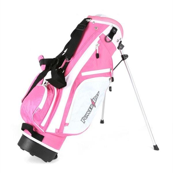 Powerbilt Golf Junior (Ages 5-8) Pink Stand Bag