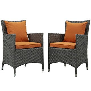 Stopover Synthetic Rattan Outdoor Patio Dining Chairs (Set of 2)