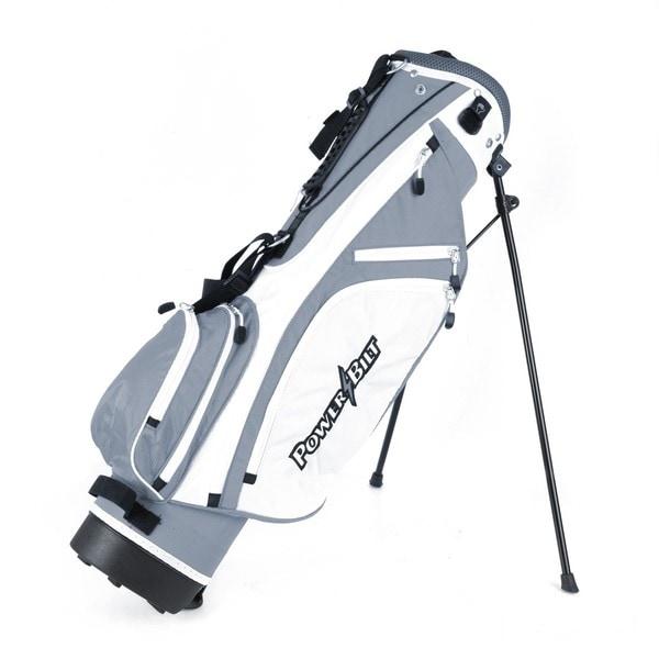 Powerbilt Golf Junior (Ages 9-12) Silver Stand Bag