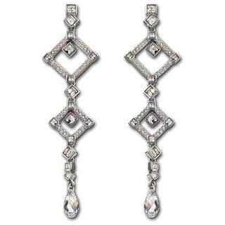 Rhodium-plated Austrian Crystal Marrakesh Pierced Earrings|https://ak1.ostkcdn.com/images/products/11665816/P18595129.jpg?impolicy=medium