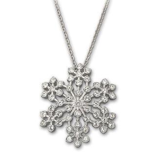 Swarovski Pansy Pendant Elaborately Crafted Snowflake Silhouette