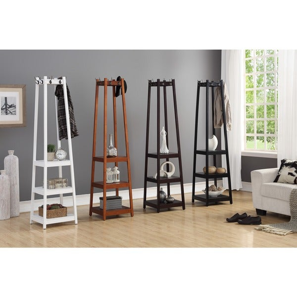 Shop Vassen 3 Tier Storage Shelf Standing Coat Rack 72 H X 17 L X