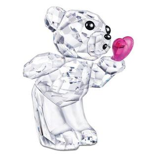 Crystal Bear Figuring Blowing Kisses with Heart