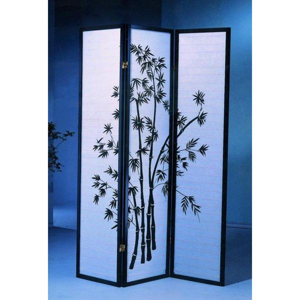 3-Panel Oriental Shoji Screen/Room Divider, Black. Opens flyout.
