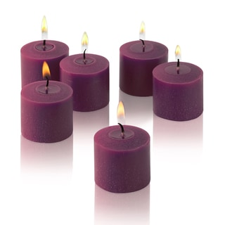 Purple Unscented Votive Candles (Set of 36)