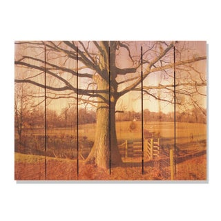 Big Oak 33x24 Indoor/ Outdoor Full Color Cedar Wall Art