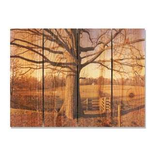 Big Oak 22.5x16 Indoor/ Outdoor Full Color Cedar Wall Art