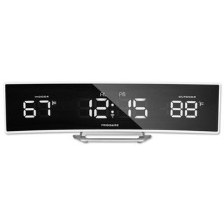 Frigidaire 308-2408FR Wireless Curved Mirrored Extra Bright LED Thermometer