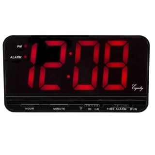Equity by La Crosse 30401 Extra-Large 3 Inch LED Red Electrical Bedside Alarm Clock