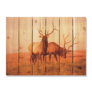 Bull Elk 33x24 Indoor/ Outdoor Full Color Cedar Wall Art