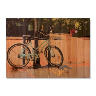 Blue Cruiser 33x24 Indoor/ Outdoor Full Color Cedar Wall Art