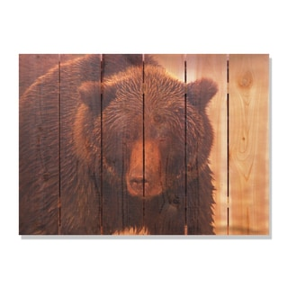 Big Bear 33x24 Indoor/ Outdoor Full Color Cedar Wall Art