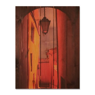 Arch Way 28x36 Indoor/ Outdoor Full Color Cedar Wall Art
