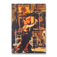 Argentine Tango 16x24 Indoor/ Outdoor Full Color Cedar Wall Art