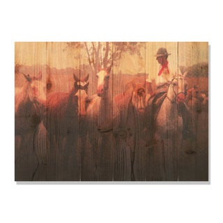 Argentine Gaucho 33x24 Indoor/ Outdoor Full Color Cedar Wall Art