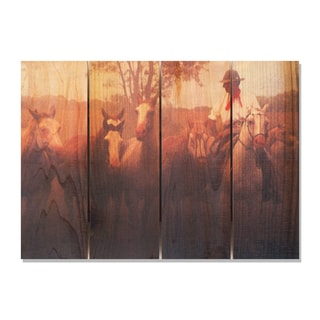Argentine Gaucho 22.5x16 Indoor/ Outdoor Full Color Cedar Wall Art