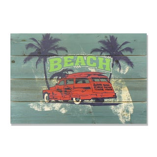Red Beach Woodie 14x20 Wile E. Wood Indoor/ Outdoor Full Color Cedar Wall Art