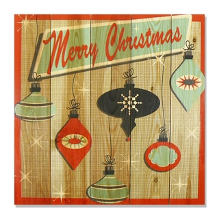 Retro Christmas 17x17 Wile E. Wood Indoor/ Outdoor Full Color Cedar Wall Art