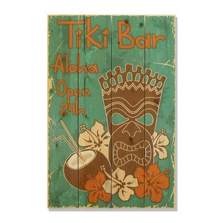Tiki Bar 14x20 Wile E. Wood Indoor/ Outdoor Full Color Cedar Wall Art