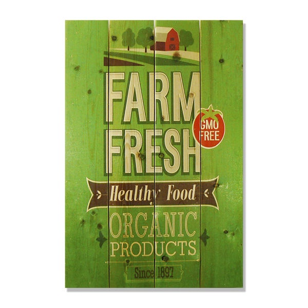 Farm Fresh 14x20 Wile E. Wood Indoor/ Outdoor Full Color Cedar Wall Art