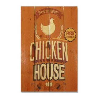Chicken House 14x20 Wile E. Wood Indoor/ Outdoor Full Color Cedar Wall Art