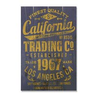 California Trading Company 14x20 Wile E. Wood Indoor/ Outdoor Full Color Cedar Wall Art