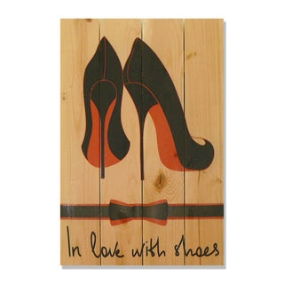 In Love With Sneakers 14x20 Wile E. Wood Indoor/ Outdoor Full Color Cedar Wall Art