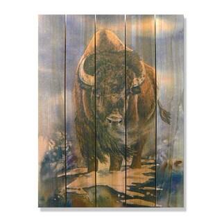 American Buffalo-28x36 Indoor/ Outdoor Full Color Cedar Wall Art
