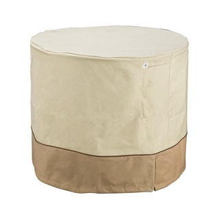 Villacera High Quality Air Conditioner Cover Round Beige and Brown 34-inch Diameter