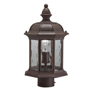 Kichler Lighting Traditional 1-light Olde Brick Outdoor Post Lantern