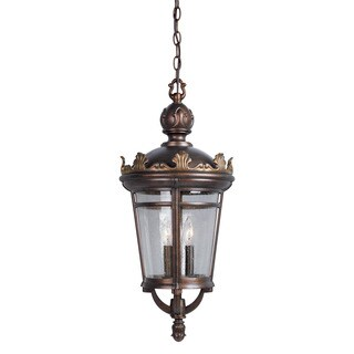 Kichler Lighting Traditional 1-light Legacy Bronze/Gold Outdoor Hanging Lantern
