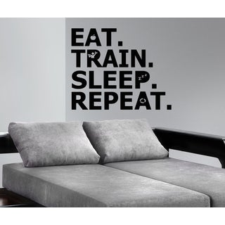 Shop Eat Sleep Train Repeat Wall Art Sticker Decal Free