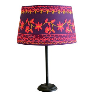 Large Rabari Cotton Lamp Shade (India)