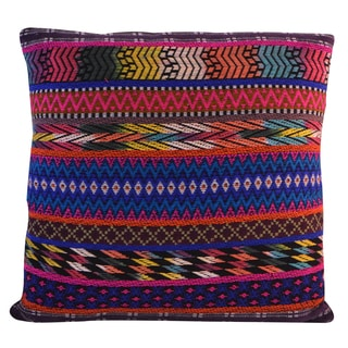 Square Jacquard 18-inch Cotton Pillow (India)