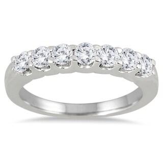 Marquee Jewels 14k White Gold 3/4ct TDW Prong-set 7-stone Diamond Band (I-J, I2-I3)