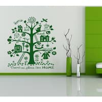 Family tree house Wall Art Sticker Decal Green