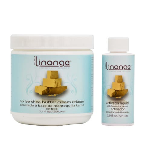 Linange No Lye Shea Butter Cream Relaxer (Single Application)