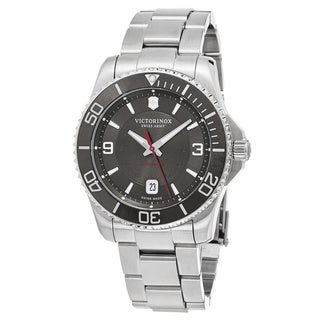 Swiss Army Men's V241705 'Maverick' Grey Dial Stainless Steel Swiss Automatic Watch