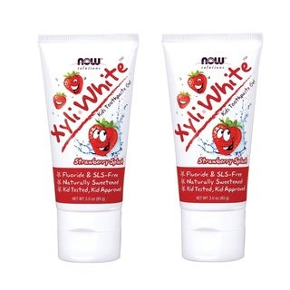Now Foods Solutions XyliWhite Kids' Strawberry Splash Toothpaste Gel (Pack of 2)
