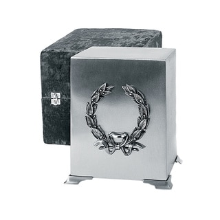 Star Legacy Brushed Pewter Cube Brass Cremation Urn
